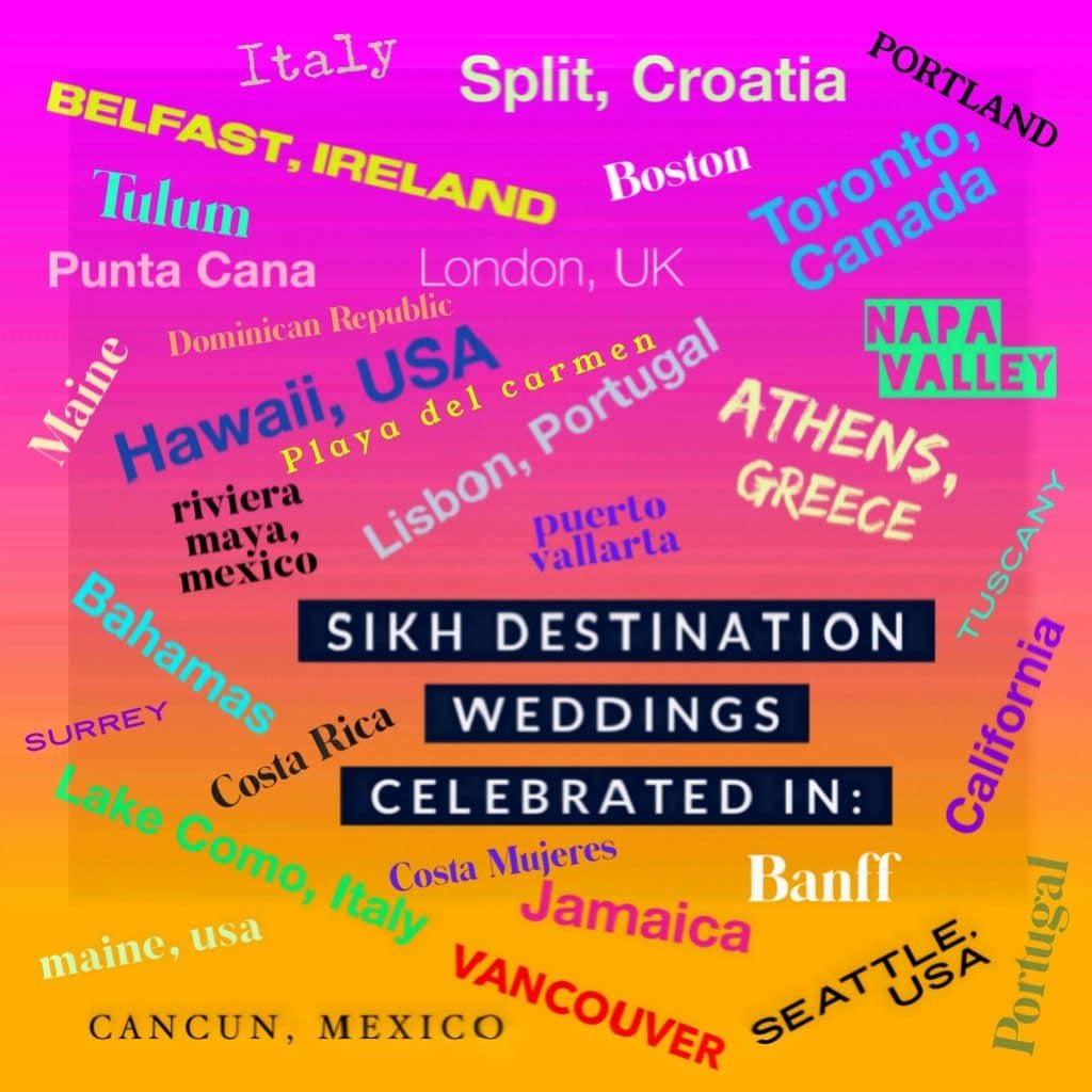 Outdoor Sikh Destination Wedding